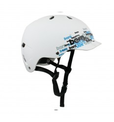 Watts Matte White Cyan Scatter HARD HAT