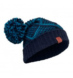 Knitted Hat Plaid Medieval Blue