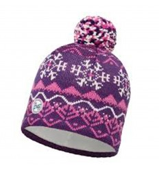 Knitted & Polar Hat Vail Plum